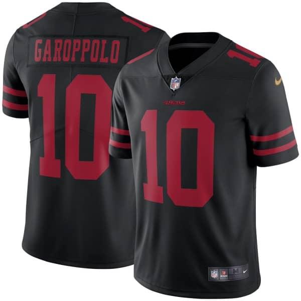 Jimmy Garoppolo #10 San Francisco 49ers Nike Vapor Limited NFL Trikot Schwarz
