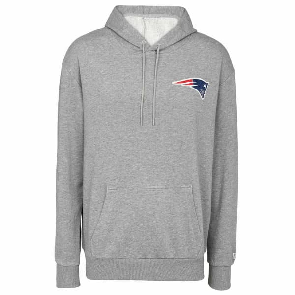 New England Patriots Detail Logo New Era NFL Hoodie Grau