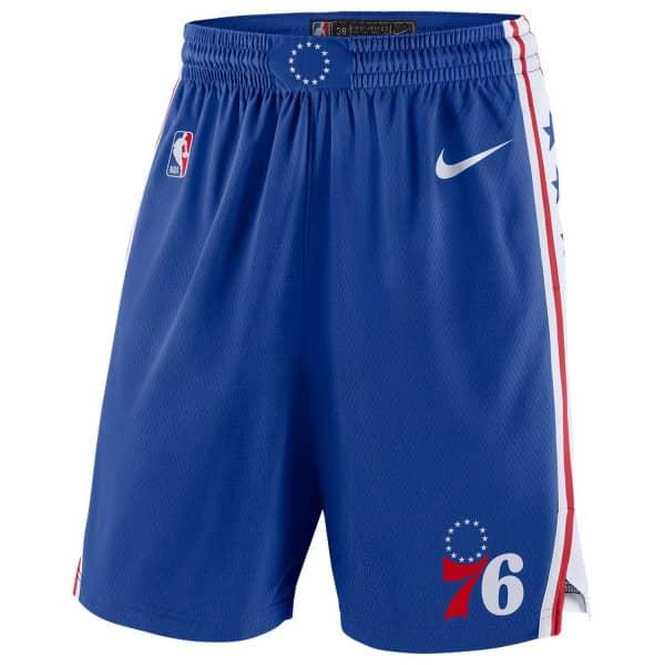 Philadelphia 76ers Nike Icon Swingman NBA Shorts Blau