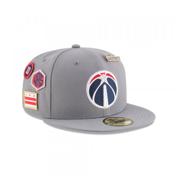 Washington Wizards 2018 NBA Draft 59FIFTY Fitted Cap Storm Grey