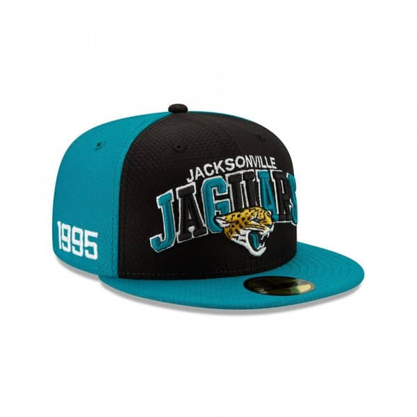 Jacksonville Jaguars 2019 NFL On-Field Sideline 59FIFTY Fitted Cap Home
