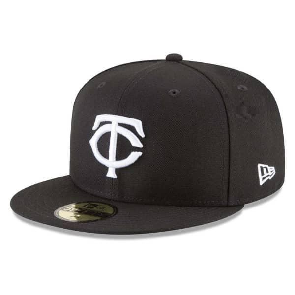 Minnesota Twins Black & White New Era 59FIFTY Fitted MLB Cap