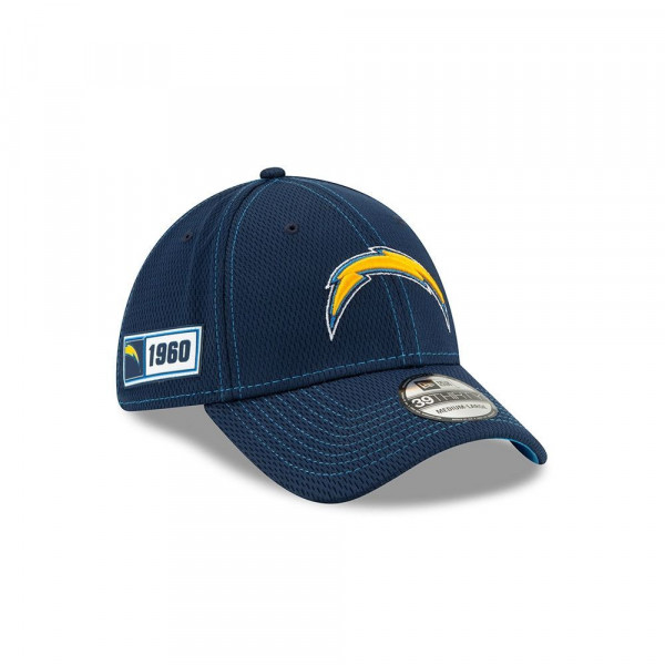 Los Angeles Chargers 2019 NFL On-Field Sideline 39THIRTY Stretch Cap Road