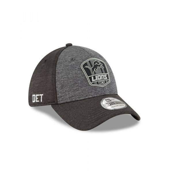 Detroit Lions Black 2018 NFL Sideline 39THIRTY Flex Cap Road