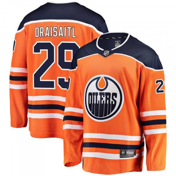 Leon Draisaitl #29 Edmonton Oilers Breakaway NHL Trikot Orange