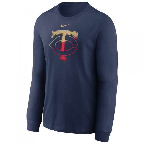 Minnesota Twins Angle Logo Nike MLB Longsleeve Shirt Navy