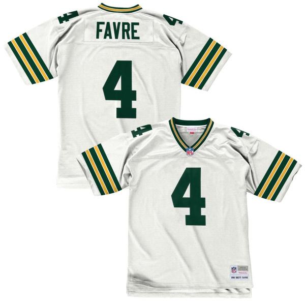 Brett Favre #4 Green Bay Packers Replica Throwback NFL Trikot Weiß