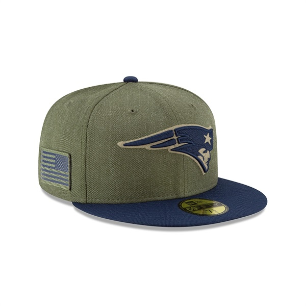 498b0449eaf8d New Era New England Patriots 2018 Salute to Service 59FIFTY NFL Cap ...
