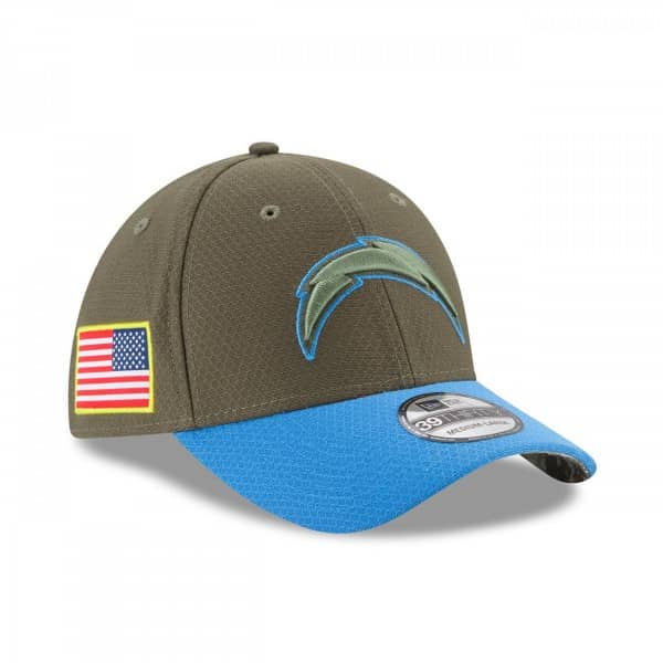 Los Angeles Chargers 2017 Salute to Service 39Thirty NFL Flex Cap