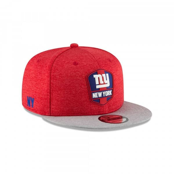 New York Giants 2018 NFL Sideline 9FIFTY Snapback Cap Road