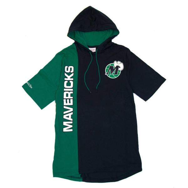 Dallas Mavericks Split Mitchell & Ness Short Sleeve NBA Hoodie