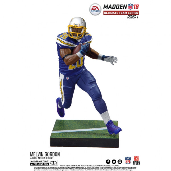 Madden NFL 18 Melvin Gordon Los Angeles Chargers Action Figur