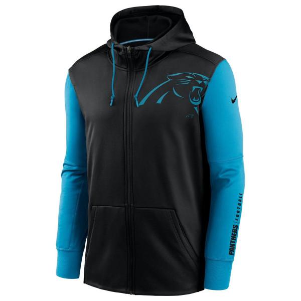 Carolina Panthers 2020 NFL Big Logo Nike Therma Full-Zip Hoodie