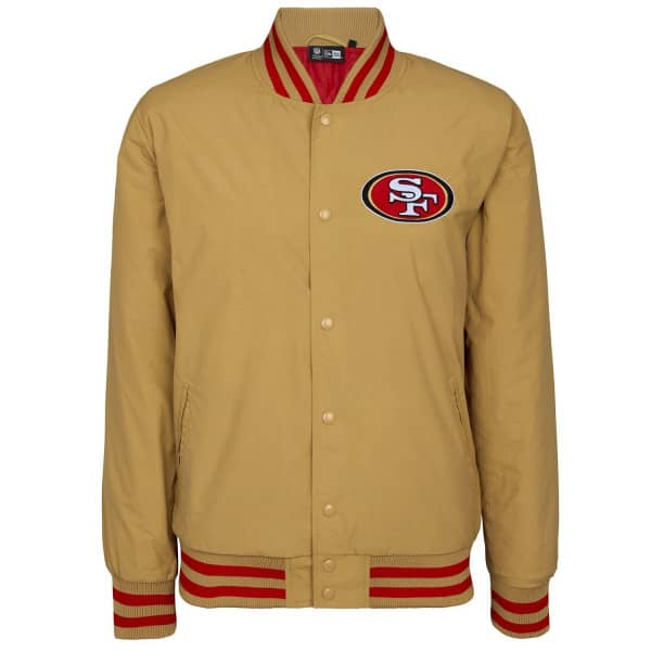 San Francisco 49ers Team Wordmark New Era NFL Letterman Jacke