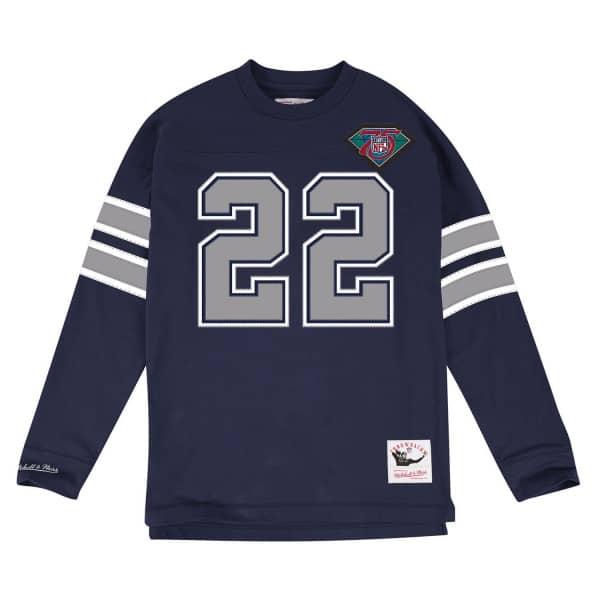 Emmitt Smith #22 Dallas Cowboys Throwback NFL Long Sleeve Shirt
