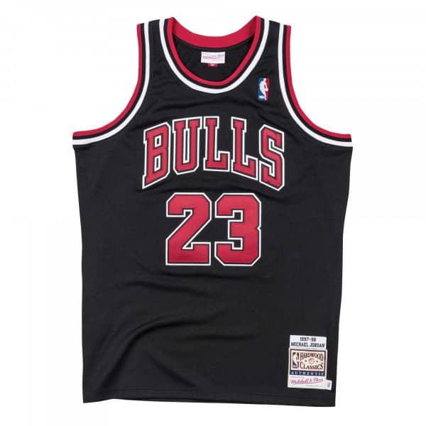 Michael Jordan #23 Chicago Bulls 1997-98 Authentic NBA Trikot Schwarz