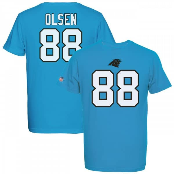 Majestic Greg Olsen  88 Carolina Panthers Eligible Receiver NFL T-Shirt  Blue  6df141d9f77