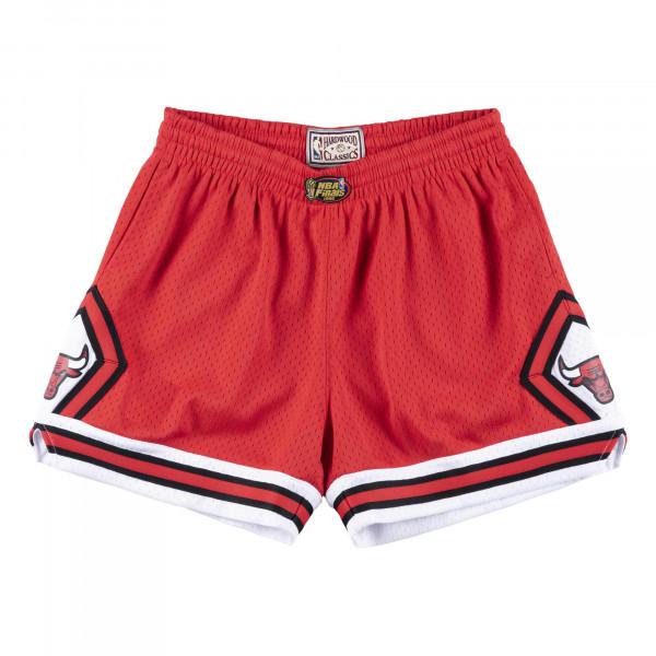 Chicago Bulls 1996 Finals Mitchell & Ness Jump Shot NBA Shorts Rot (DAMEN)