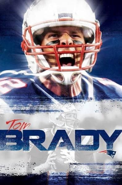 New England Patriots Tom Brady Superstar NFL Poster