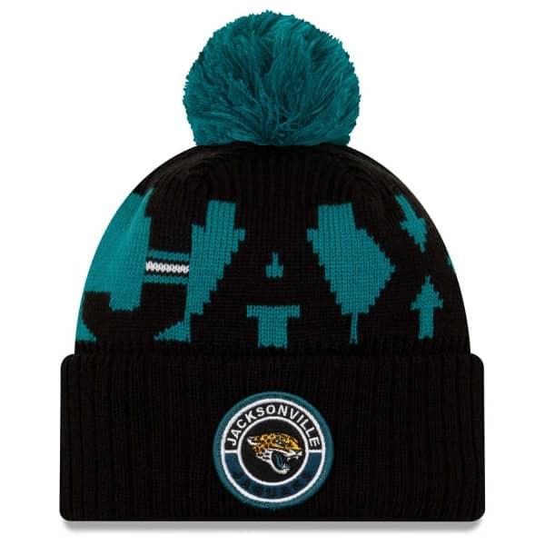 Jacksonville Jaguars Official 2020 NFL Sideline New Era Sport Knit Wintermütze