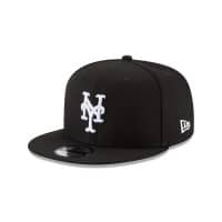 New York Mets Black & White 9FIFTY Snapback MLB Cap