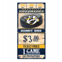 Nashville Predators NHL Ticket Schild