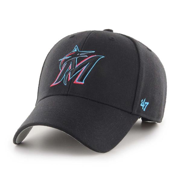 Miami Marlins '47 MVP Adjustable MLB Cap Schwarz