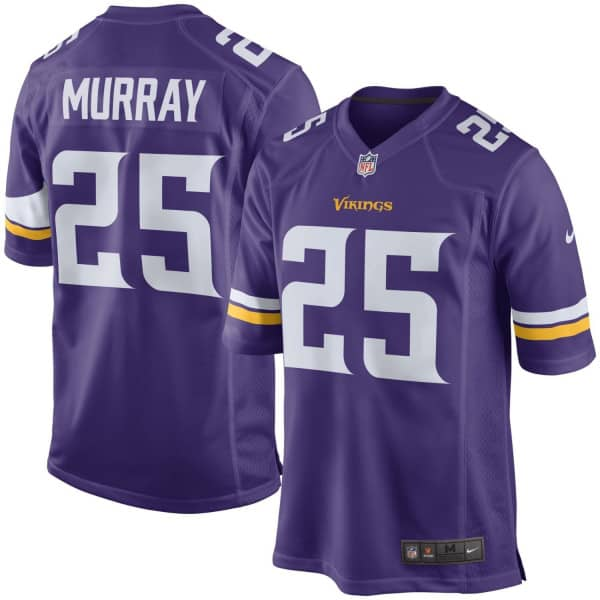 sports shoes a9822 c062f Latavius Murray #25 Minnesota Vikings Game Football NFL Jersey Purple
