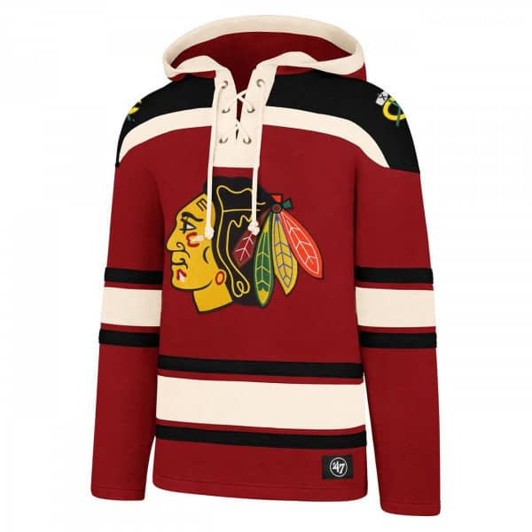 Chicago Blackhawks Lacer Jersey Hoodie NHL Sweatshirt