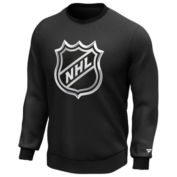 NHL Shield Logo Fanatics Iconic Crewneck Sweatshirt Schwarz