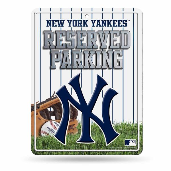 New York Yankees Reserved Parking MLB Metallschild