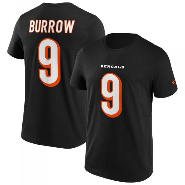 Joe Burrow #9 Cincinnati Bengals Fanatics Player NFL T-Shirt Schwarz