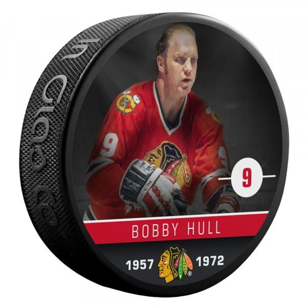 Bobby Hull Chicago Blackhawks Alumni NHL Puck
