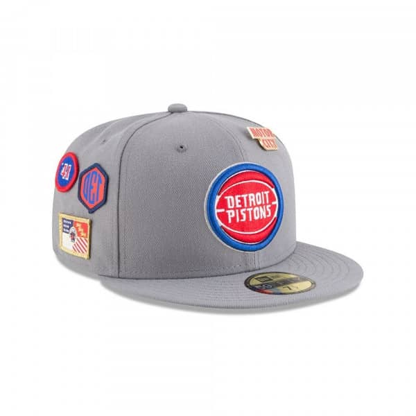 Detroit Pistons 2018 NBA Draft 59FIFTY Fitted Cap Storm Grey