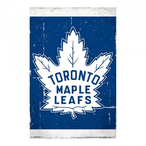Toronto Maple Leafs Retro Team Logo Eishockey NHL Poster