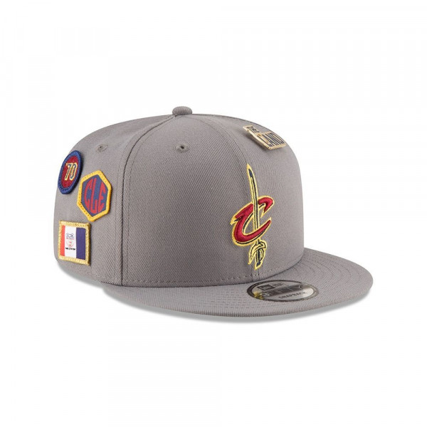 Cleveland Cavaliers 2018 NBA Draft 9FIFTY Snapback Cap Storm Grey