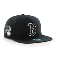 Boston Red Sox Black & White Sure Shot Snapback MLB Cap