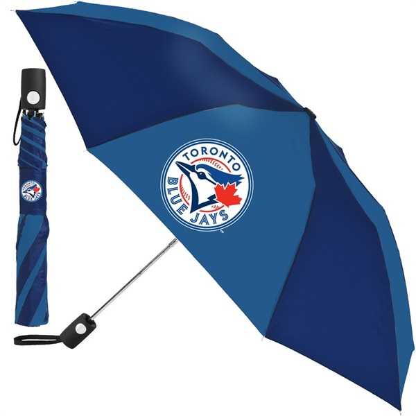 84eca1ef2126 Toronto Blue Jays Auto Folding MLB Umbrella