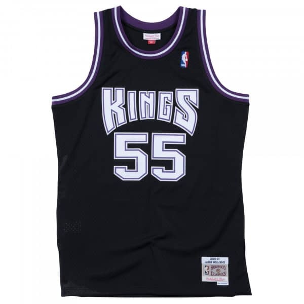 53714b1ebff Mitchell   Ness Jason Williams  55 Sacramento Kings 2000-01 Swingman NBA  Jersey Black