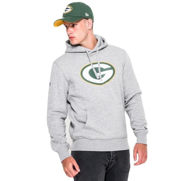 Green Bay Packers Logo Hoodie NFL Sweatshirt Grau