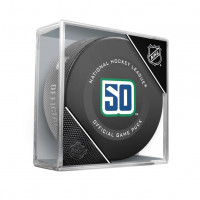 Vancouver Canucks 50th Anniversary NHL Official Game Puck
