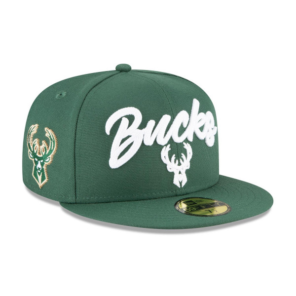 Milwaukee Bucks Alternate Authentic 2020 NBA Draft New Era 59FIFTY Fitted Cap