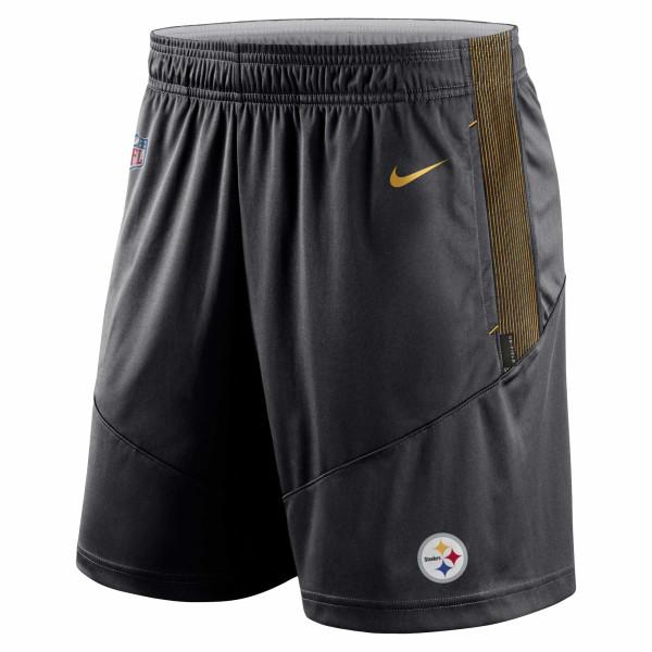 Pittsburgh Steelers 2021 NFL On-Field Sideline Nike Shorts Schwarz