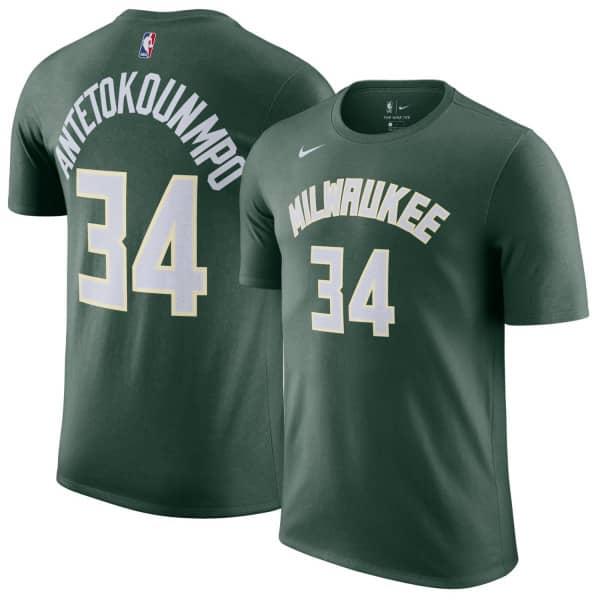 Giannis Antetokounmpo #34 Milwaukee Bucks Nike Icon NBA T-Shirt Grün