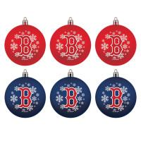 Boston Red Sox MLB Weihnachtskugeln Geschenk-Set (6-Teilig)