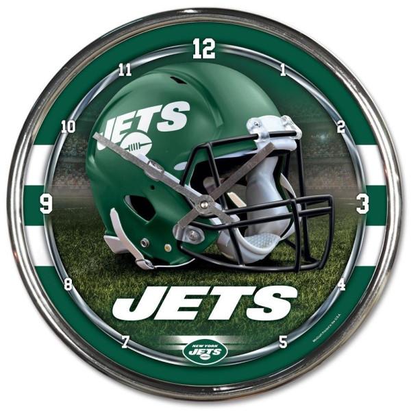 New York Jets Chrome NFL Wanduhr