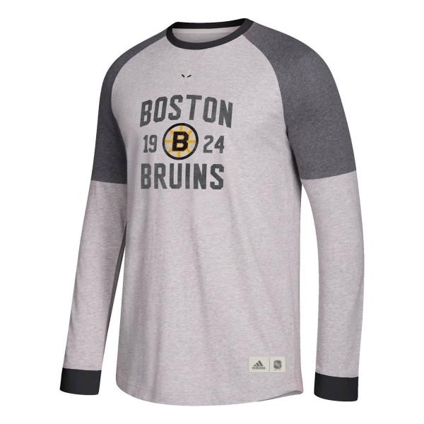 98855e555c7 adidas Boston Bruins Vintage NHL Long Sleeve Shirt   TAASS.com Fan Shop