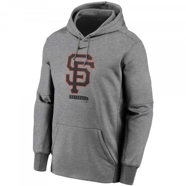 San Francisco Giants Logo Nike Therma Performance MLB Hoodie Grau
