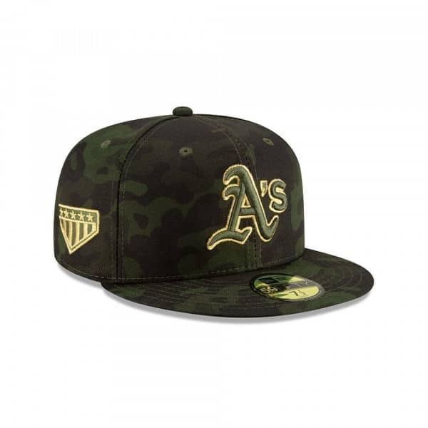 best sneakers 9bef4 2675e New Era Oakland Athletics 2019 Armed Forces Day On-Field 59FIFTY Fitted MLB  Cap   TAASS.com Fan Shop