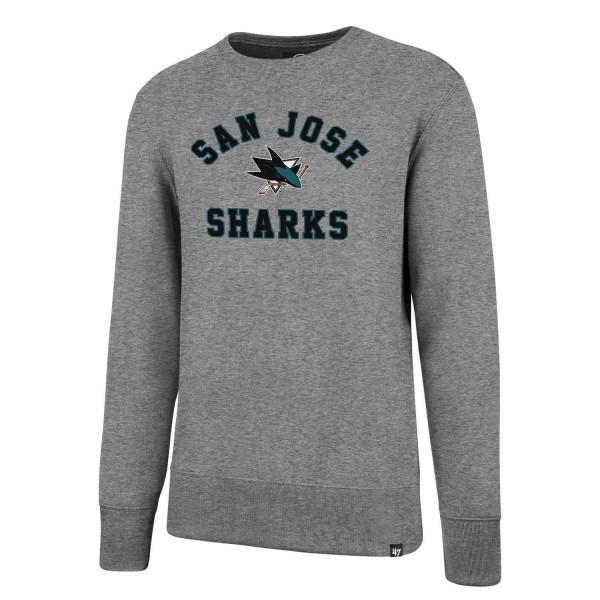 San Jose Sharks Varsity Arch Crewneck NHL Sweatshirt